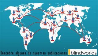 Mapa del mundo. Los usuarios de blindworlds lo hacen más pequeño y accesible