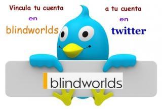 El pajarito de twitter señala a nuestra red social blindworlds para vincular