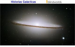 Imagen de una Galaxia en la oscuridad del Universo. Historias galácticas bw