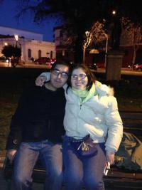 Yo y Francisca Pérez con tenida formal para mi titulación universitaria